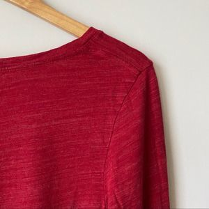 Isabel Maternity by Ingrid & Isabel Tops - 2/$22 Isabel Maternity Red Long Sleeve Scoop Neck
